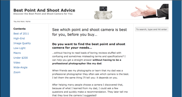 Best Point And Shoot Advice Home Page
